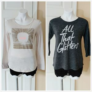 Pair of Old Navy graphic tees girl's XL(14)